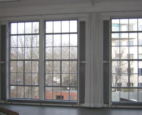 Stahlfenster, Loftfenster mit schmalen Ansichtsbreiten, wärmegedämmt
