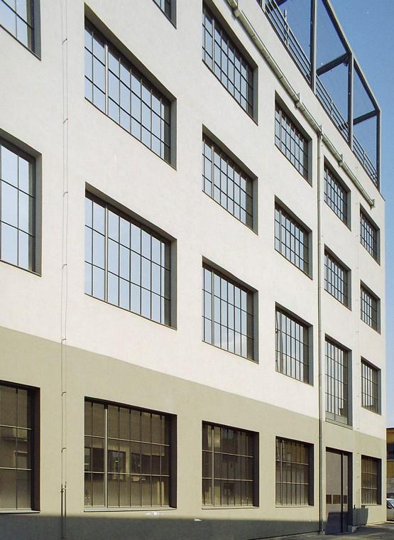Denkmalgerechte Stahlfenster Fassadenansicht
