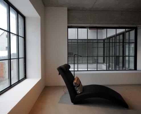 wärmegedämmte Loftfenster, Industriedesign Fenster mit Sprossen, Schmale Ansichtsbreiten der Profile