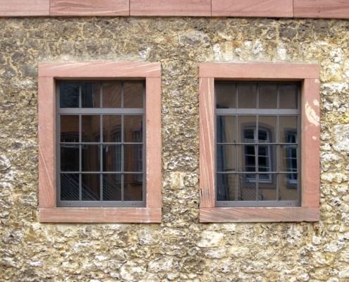 Stahlfenster, schmale Ansichtsbreiten, Industriedesign, Öffnungsflügel dreh kipp
