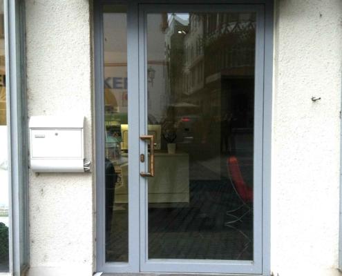 Stahl Eingangstür, wärmegedämmt
